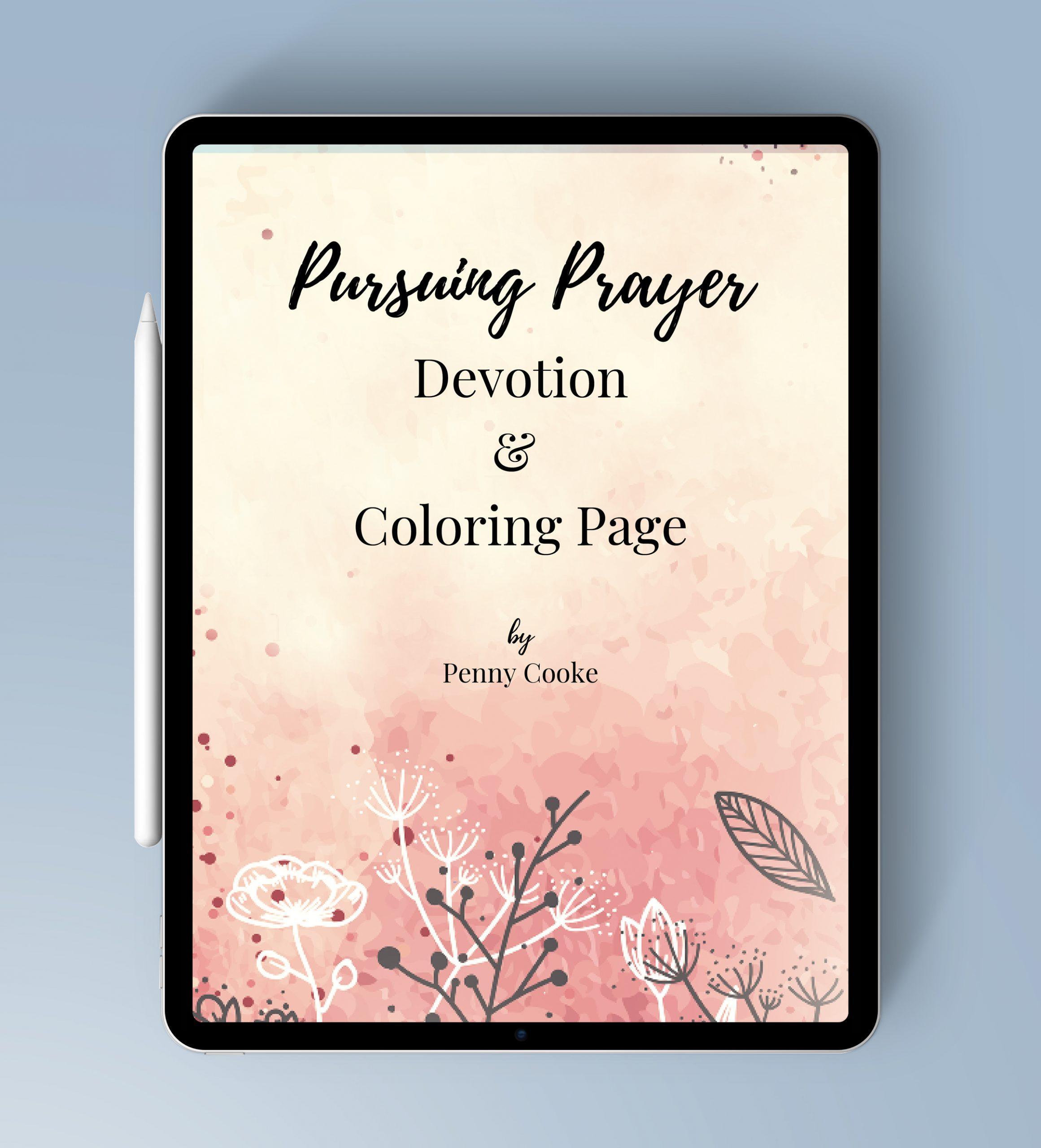 Pursuing Prayer iPad MockUp