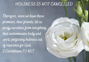 Holiness is not cancelled meme