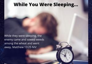 While You Were Sleeping...meme